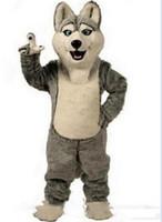 trajes de fantasia venda por atacado-2019Hot venda Husky Dog Traje Da Mascote Adulto Personagem de Banda Desenhada Mascota Mascotte Outfit Terno Fancy Dress Party Carnival Costume