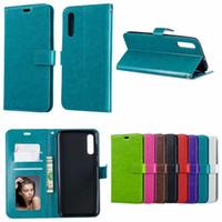 crazy phone cases venda por atacado-Para samsung s10 plus 5g e crazy horse carteira de couro tampa do telefone case a80 a70 m30 m20 m10 a50 a40 a30 a20e a70