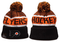 Wholesale basketball beanie hats for sale - Group buy New Beanies Flyers Hockey Hot Knit Beanie Pom Knit Hats Black Baseball Football Basketball Sport Beanies Mix Match Order All Caps