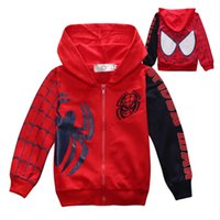 Wholesale boys spider man hoodies for sale - Group buy J190529New Arrive Spider Man Jacket For Boys Spider man Clothes Children Spring Coat Baby Kids Hoodies Warm Boys Fashion Outerwear J190529