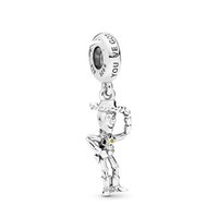 Wholesale charming bracelet pandora resale online - 925 Sterling Silver Beads Disny Toy Woody Pendant Charm Fits European Pandora Style Jewelry Bracelets Necklace ENMX