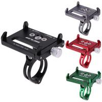 slide de celulares venda por atacado-4 cor de metal anti slide suporte da bicicleta da bicicleta titular do telefone montar guiador extensor titular para telefone celular gps etc z60