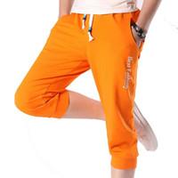 ingrosso corti pantaloni da jogging-2018 Hot vendita di modo casuale pantaloni larghi Mens tagliati corti Pantaloni felpa Jogger Shorts Ayg221 Trend di formato M-5XL