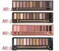 dhl envío gratis sombra de ojos al por mayor-¡DHL directo del envío libre de la fábrica nuevo ojo caliente del maquillaje NO: 1/2/3/5 Palette 12 Colors Eyeshadow!