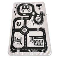 teppichbodenmatten für autos großhandel-Babyspielmatte weiche kriechende Teppiche Car Track-Muster Puzzles Lernen Spielzeug Nordic Stil Kinderzimmer Dekoration Boden Teppichboden