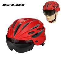 Wholesale woman mtb helmet resale online - Bicycle Goggle Helmet Integrally molded MTB Road Bike Safe Cap Men Women Cycling Helmet With Magnet Adsorption Goggle
