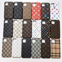 coque samsung оптовых-Роскошная кожаный чехол для iPhone 11 Pro X XS Max XR 8 7 6S Дела защиты Марки Назад телефон Обложки Кок для Samsung S10 S9 S8 Примечание S10-8