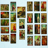 Wholesale russian art for sale - Group buy Stalin Soviet Union Generation Posters Vintage Russian Style Tin Sign Metal Plaques Iron Painting Bar Hanging Pictures Art Graffiti Poster
