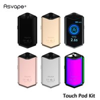 Wholesale smart starter for sale - Group buy Asvape Touch Pod Starter Kit Built in mAh ml Cartridge with Touch Screen First Smart Touchscreen Pod Device Authentic