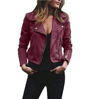 ingrosso zip sulle cime-Cappotto sottile del motociclo del motociclo del motociclo del motociclo di Zip Up del motociclo del rivestimento del rivestimento delle donne di autunno di nuovo modo
