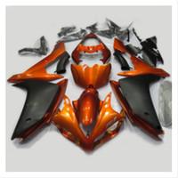 laranja r1 venda por atacado-Injeção ABS Plásticos carenagens Para Yamaha R1 YZF1000 Ano 2007 2008 Kit 07 08 Motorcycle completa Fairing Carroçaria pintada alaranjada