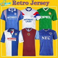 maillot de football aston villa achat en gros de-Retro Football Rangers Jersey Glasgow 90 99 Saison Blackburn 94 95 Irlande 1990 Everton 86 87 95 81 82 Aston Villa Retro Football Chemi
