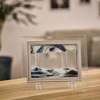 обрамление 3d картины оптовых-3D динамический течет песок песочные картины прозрачная стеклянная рамка чертежа альбомная Б88
