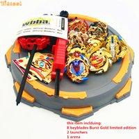 Wholesale beyblade toys for sale - Group buy Golden Beyblade Burst Toy With Launcher Starter and Arena Bayblade Metal Fusion God Spinning Top Bey Blade Toy Drop shipping dddd