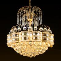 Wholesale crystal lightings resale online - European American style crystal chandeliers lights led pendant lamps hotel dinning room bedroom new pendant chandelier lightings