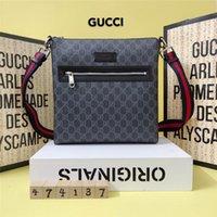 iş omuz çantası erkek toptan satış-Sıcak satış Tasarımcı Çanta Omuz Çantası Yeni Erkek Haberci Çanta Deri erkek Çanta Çapraz Vücut Adam için Iş çantası 474137