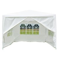 Wholesale outdoor gazebo tents for sale - 10 x Patio White Party Tent Wedding Gazebo Canopy Pavilion Event Outdoor