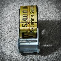 erkek tuval kemerleri toptan satış-Amerikan Sokak Işareti Kemer Erkek ve Kız için Hip Hop Dans Tuval Kemer ile Popüler Logo Çizgili Tuval Metal Toka Sürüm kişilik