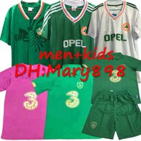 Wholesale ireland soccer jerseys for sale - Group buy 2019 European Cup COLLINS McGOLDRICK Mens Soccer Jerseys Ireland National Team Green Football Shirts kits Retro Uniforms kids sets