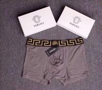 männer unterwäsche sexy kleidung großhandel-2019 luxus designer männer underwear baumwolle weiche boxer mit box hochwertige männer unterhose sexy männliche underwear hause kleidung
