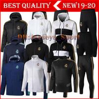 chaquetas de futbol del real madrid al por mayor-calidad tailandesa 19 20 Real Madrid de fútbol chándal traje 2019 2020 camiseta de futbol SERGIO RAMOS BENZEMA MODRIC jogging entrenamiento de fútbol