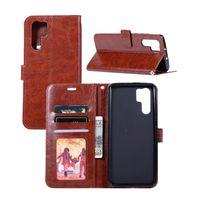 crazy phone cases venda por atacado-Virar pu capa de couro case para huawei p30 / p30 pro Crazy Horse Grain Carteira Protector Phone Bag