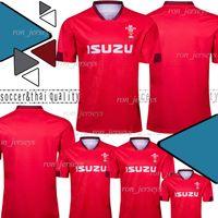 mochilas de rugby vermelho venda por atacado-2019 2020 Red Wales Casa nova camisa de rugby 19 20 National Rugby League Wales NRL jerseys red mens size S - 3XL
