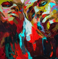 pinturas dos antigos mestres venda por atacado-Françoise Nielly espátula Impression Acolhimento Obras Modern Retrato Pintura a óleo Handmade na lona Côncavo Convexo textura Face003