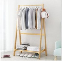 Wholesale bamboo mobile online – Bamboo hanger Clothes hangers landing bedroom modern simple clothes hanger landing bamboo assembly rack mobile clothes rack