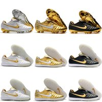 Wholesale indoor outdoor soccer shoes for sale - Group buy 2019 mens soccer shoes Tiempo Legend R10 Elite TF IC indoor soccer cleats outdoor football boots scarpe calcio