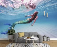 muralas subaquáticas 3d para paredes venda por atacado-Tamanho personalizado 3d foto papel de parede sala de estar sala de crianças mural mundo subaquático 3d imagem sofá TV pano de fundo papel de parede não-tecido adesivo