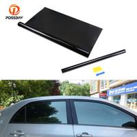 Wholesale car foil black resale online - POSSBAY cmx300cm Black Car Window Tint Film Glass VLT Roll Solar Protection Car House Building Solar Protector Foil
