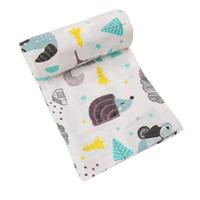 toallas de baño de animales al por mayor-2layers Mantas bebé recién nacido Fotografía Accesorios suave y transpirable de empañar Wrap infantil de bambú algodón del lecho del bebé toalla de baño
