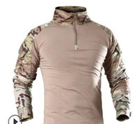 Wholesale military combat clothing resale online - ReFire Gear Men Military Tactical T shirt Long Sleeve SWAT Soldiers Combat T Shirt Airsoft Clothes Man s Camouflage Army Shirts S917