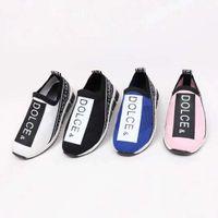 chaussures bébé gratuites achat en gros de-Chaussure sport enfant course sneaker stretch vamp + semelle en caoutchouc bébé garçon fille noir rose slip slip sport athlétique livraison gratuite