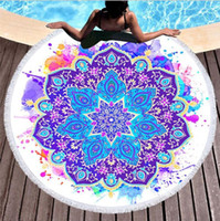 150cm Round Beach Towel 2017 Summer Beach Tassel Tapestry Towel for Adults Geometric Flag Swimming Sunbath Large Beach Towels 119
