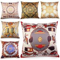 ingrosso copricapo in seta-tessuto di seta europeo cuscino 45 centimetri di lusso divano chaise divano throw pillow case royal cojines decorativos