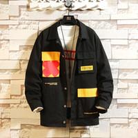 ingrosso giacche da uomo in cotone a molla-Streetwear Spring Mens Jacket Multi-pocket Cotton Cargo Mens Giacche Cappotti Casual Hip Hop Soprabito maschile 2019 Nuovo