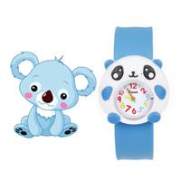 relógio menino para meninas venda por atacado-Crianças Relógios Para A Menina Menino Dos Desenhos Animados brid slap crianças bebê menina menino relógio de pulso geléia de silicone crianças esportes relógio