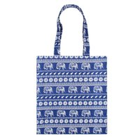 белье оптовых-Cotton Linen Reusable Shopping Bag Women Printed Tote Bag Eco Grocery Daily Use Handbag Foldable Shoulder Large Capacity