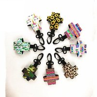 Wholesale 8 Creative Keychain ml Hand Sanitizer Perfume Bottle Cover Small Pendant Diving Material Outdoor Travel Essentials XD23224
