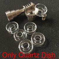 Wholesale titanium coil ecig for sale - Group buy Ecig Accessories Replacement OD mm mm Quartz Dish Bowls Titanium Nail Coil Puffco Peak For Mini Glass Bongs