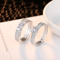 i̇sviçre elmas 18k toptan satış-kadınlar ücretsiz gönderim için Swiss Diamond Yüzük Kaplama JewelryStore999 2019 Yeni Yüksek Qulity S925 Gümüş Beyaz altın