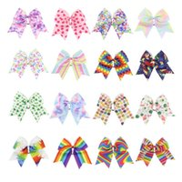Wholesale teen hair accessories resale online - Cheer Bow Hairbands Big Hair Bows with Ponytail Holder Large Classic Accessories for Teens Women Girls St Patrick s Day hair accessories