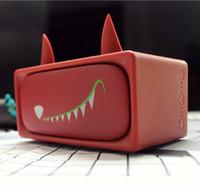 rosa drahtloser bluetooth lautsprecher großhandel-Niedlicher Mode-Karikatur-Rosa-Kaninchen und roter Wolf abnehmbarer niedlicher drahtloser tragbarer Bluetooth-Sprecher für Computertelefon