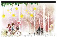 prinzessin wandaufkleber großhandel-Wholesale-Custom 3d silk foto mural tapete Warme kinderzimmer nachttischhintergrundwandmalerei prinzessin zimmer wandaufkleber