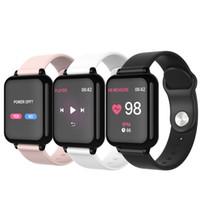 wasserdichte fitness-uhren großhandel-2019 B57 Smart Watch Armband IP67 wasserdichtes Herzfrequenzmesser Blutdruck Fitness Tracker Frauen Männer Sport Wearable-Uhr