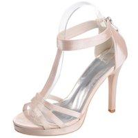 correas rojas zapatos de noche al por mayor-Correa de tobillo en T cubierta de mujer sandalias de tacón fiesta de cóctel de verano noche de verano zapatos de vestir rojo púrpura plateado