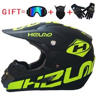 Wholesale cross country goggles resale online - motorcycle helmet Cross country helmet to send goggles gloves mask outdoor riding anti fall gifts free