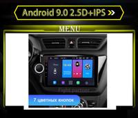 rádio de carro para kia venda por atacado-2.5D + IPS Android 9.0 Car dvd Radio Multimedia Player GPS Navigator Para RIO 3 KIA K2 2011-2016 Car Radio Multimedia Video Player Navegação G